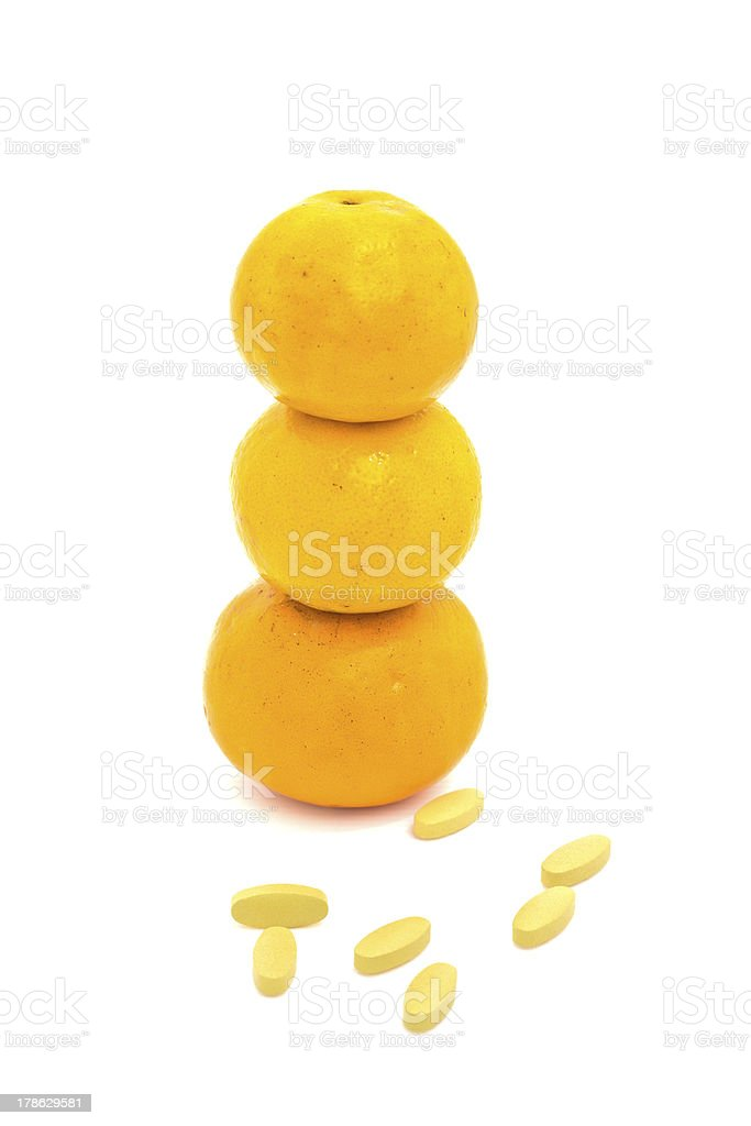 oranges and the supplement royalty-free stock photo