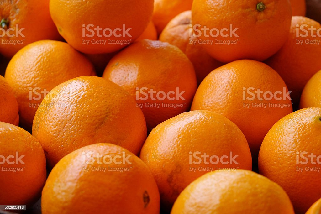 Oranges as the background stock photo