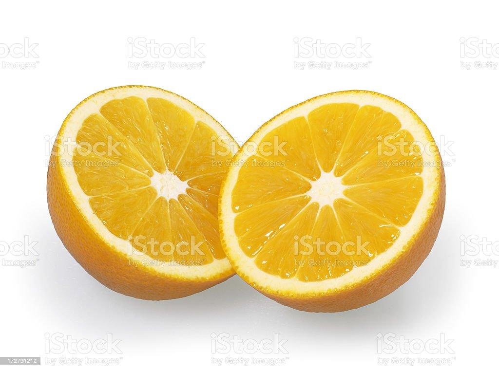 Oranges half royalty-free stock photo
