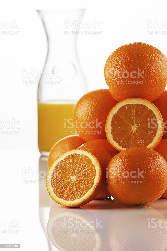 Oranges in different ways stock photo
