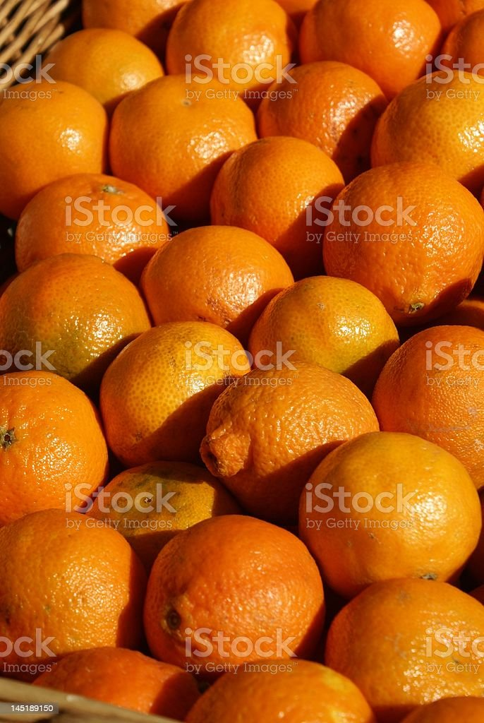 Oranges in market royalty-free stock photo