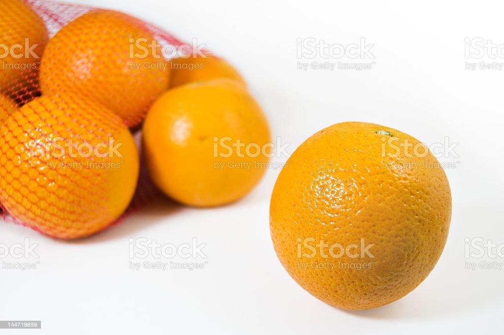 oranges isolated on white royalty-free stock photo