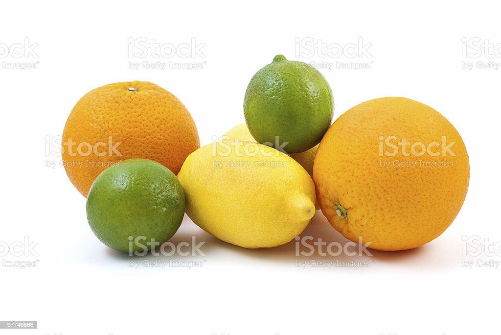 Laranjas, limas e Limões foto de stock royalty-free