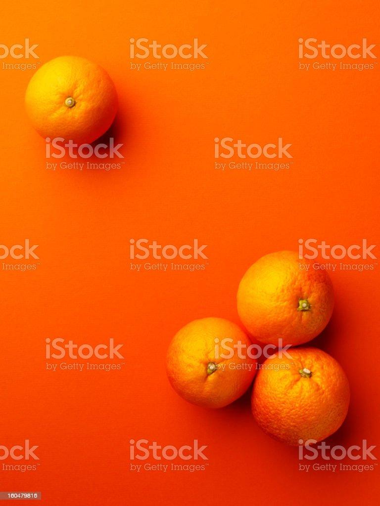Oranges on Orange royalty-free stock photo