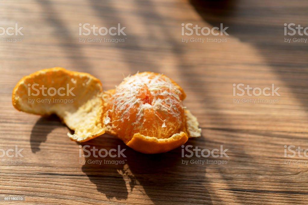 oranges on table stock photo