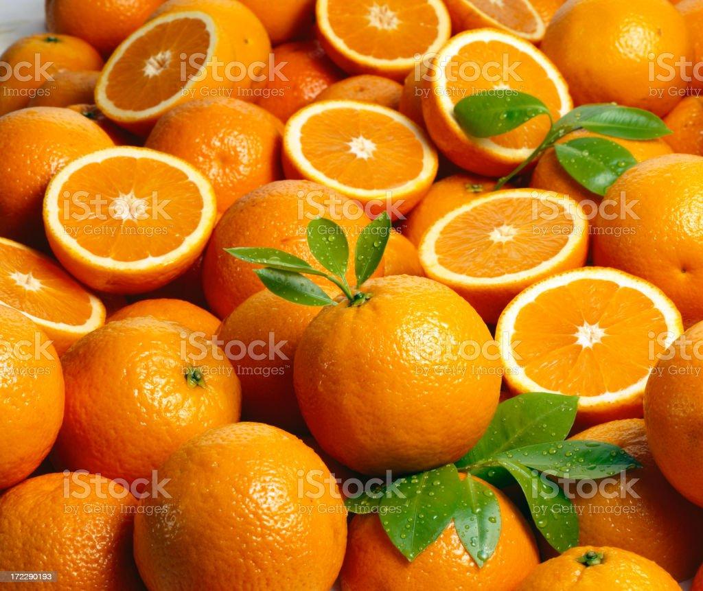 Oranges wallpaper (1) stock photo