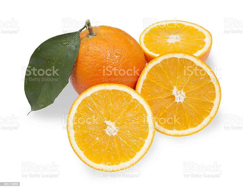 Oranges with Clipping Path royalty-free stock photo