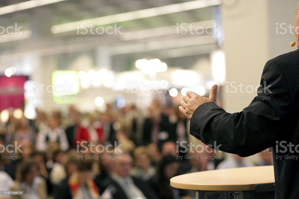 orator in public stock photo