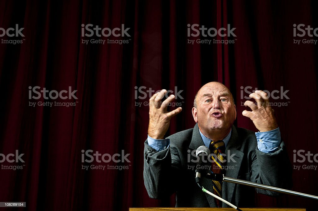 Orator royalty-free stock photo