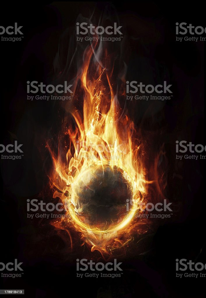 orb of fire royalty-free stock photo