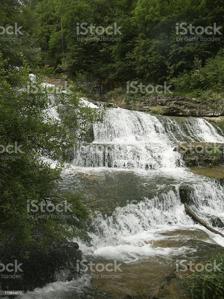 Orbe River Waterfall royalty-free stock photo