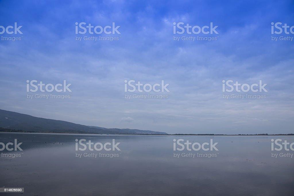 Orbetello lagoon stock photo