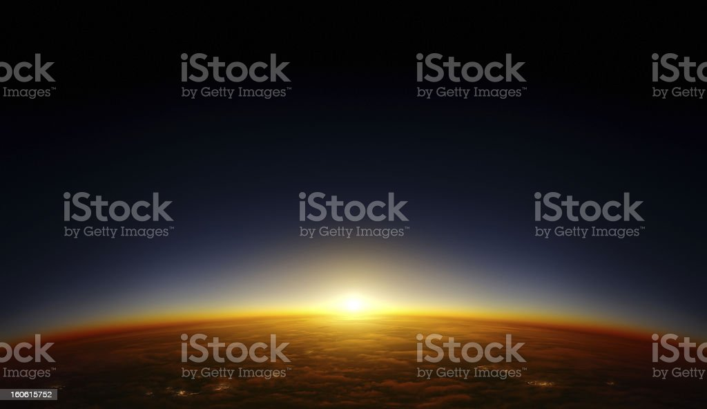 Orbit sunset stock photo