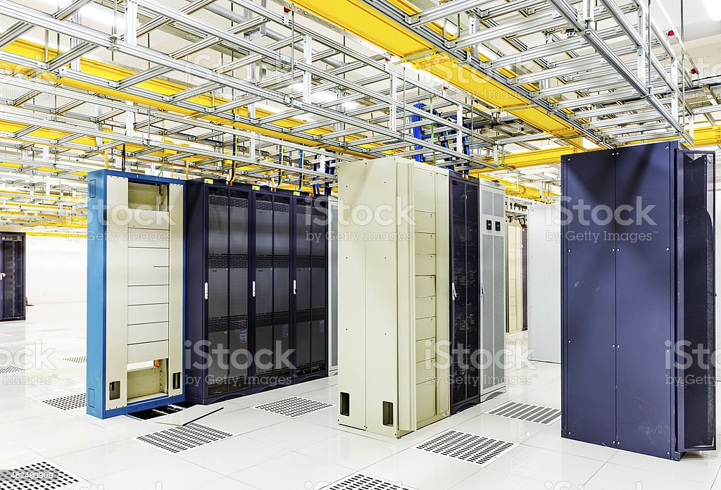 orbital in the Telecommunication room stock photo