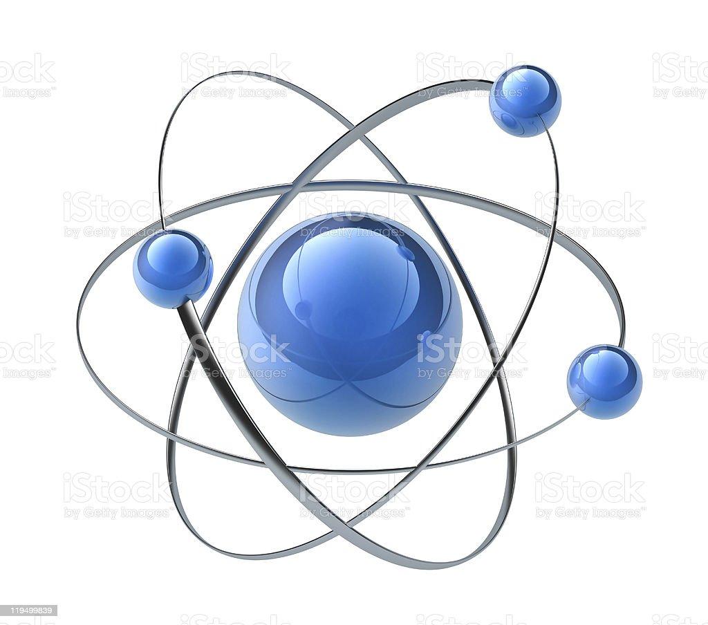 Orbital model of atom royalty-free stock photo