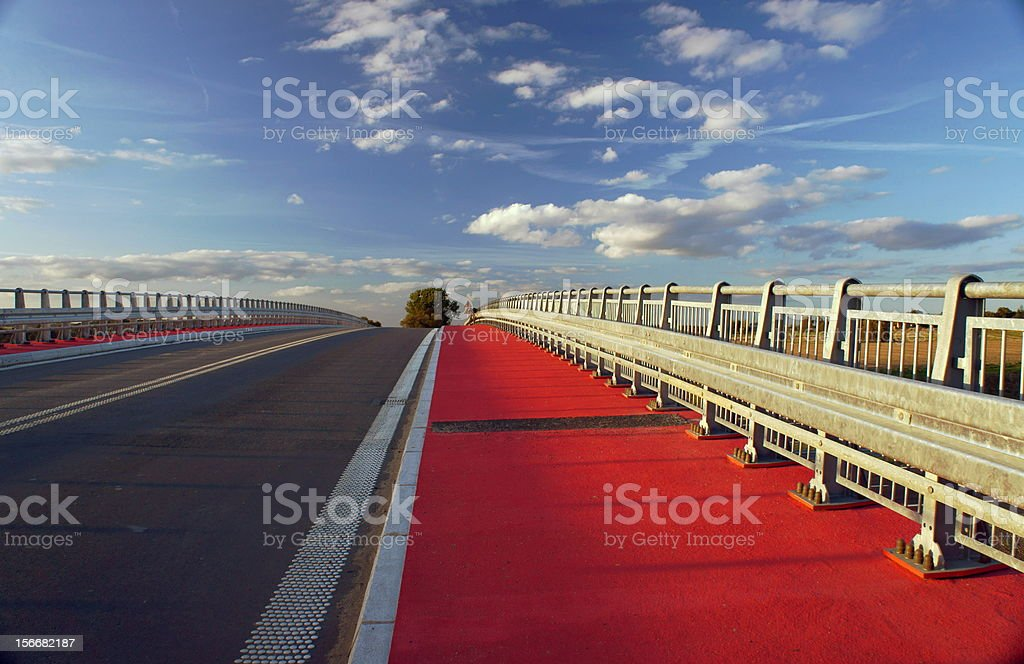 orbital road under construction in Poznan royalty-free stock photo