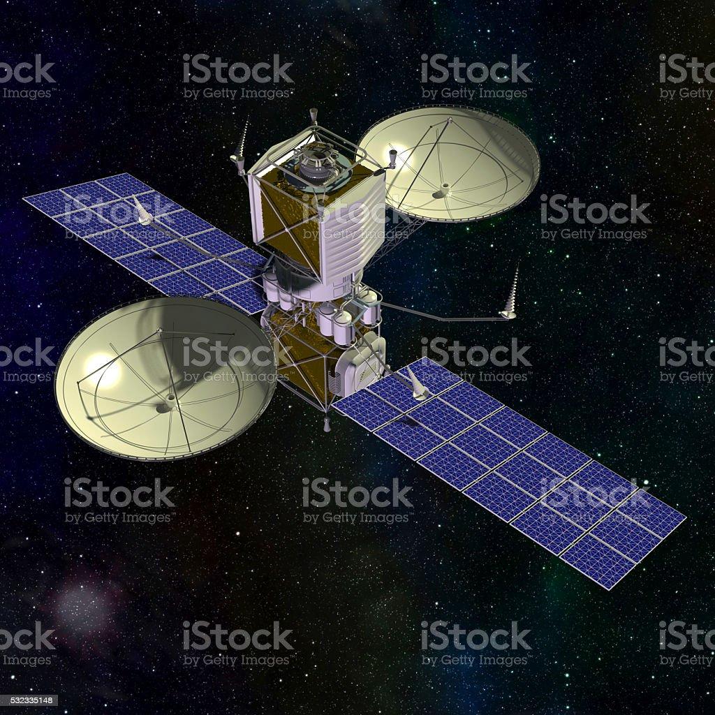 Orbital space satellite stock photo
