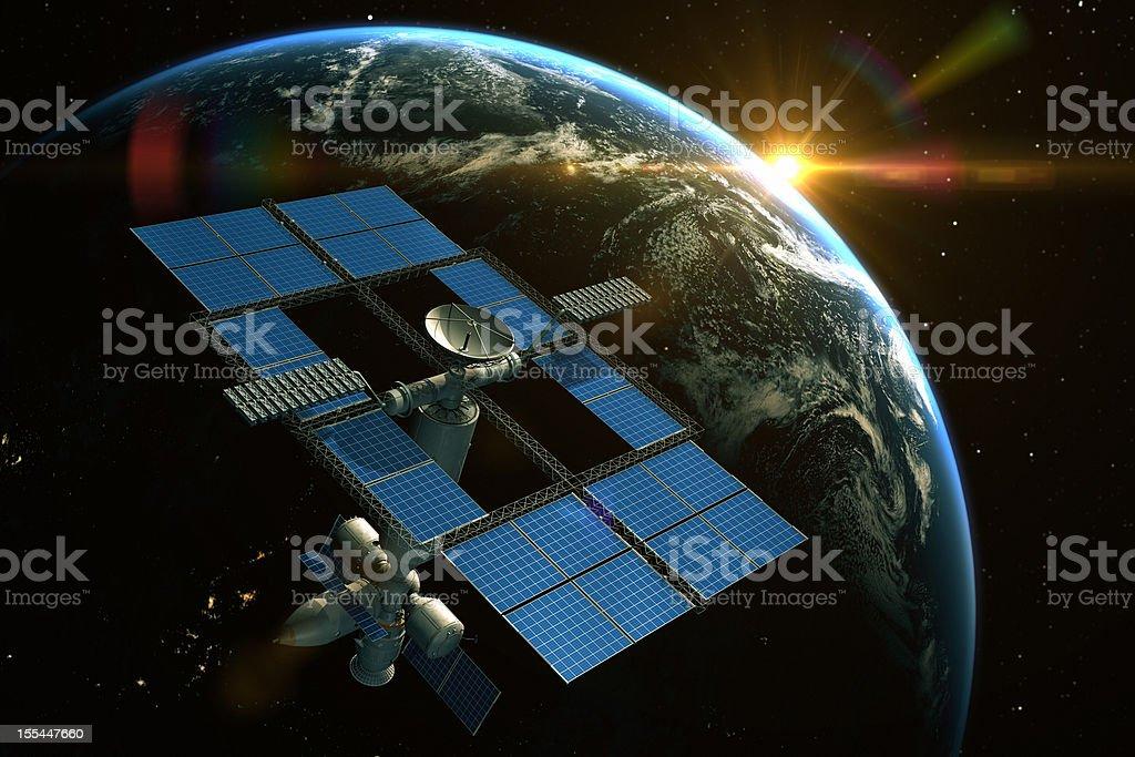 Orbital Space Station royalty-free stock photo