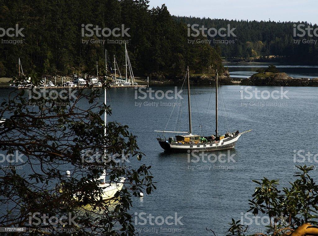 Orcas Island Harbor royalty-free stock photo