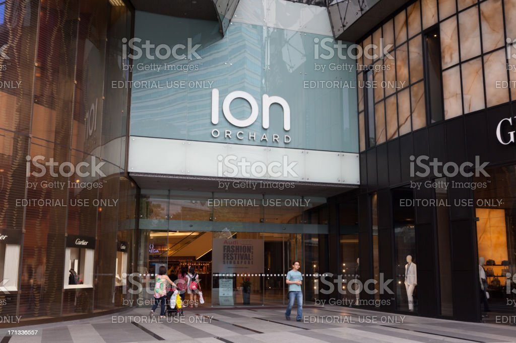 ION Orchard Shopping Mall royalty-free stock photo