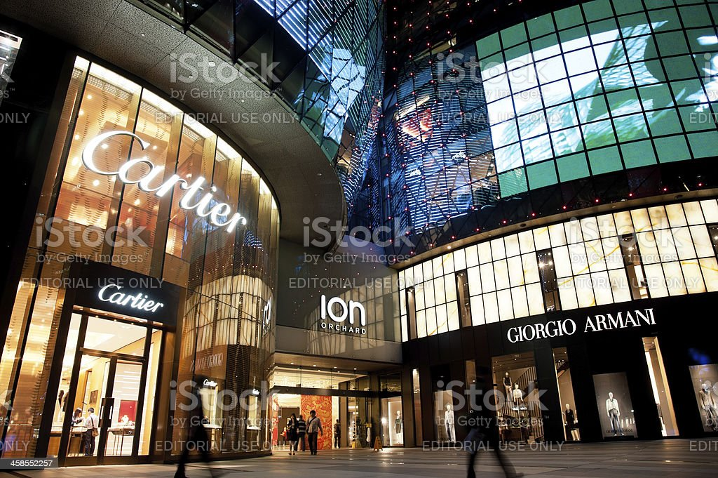 ION Orchard Shopping Mall, Singapore stock photo