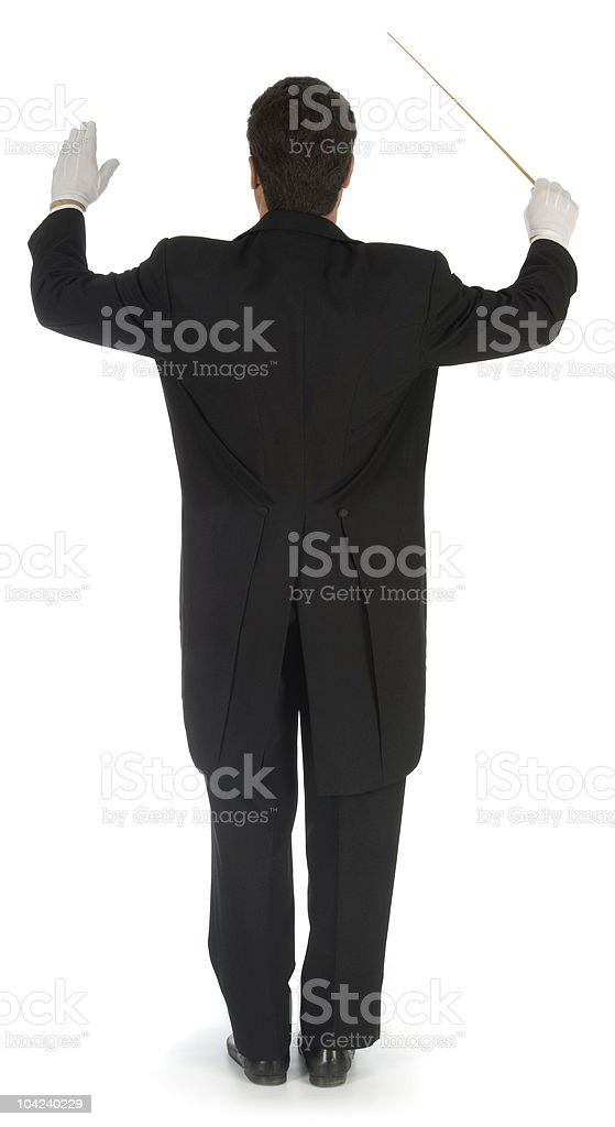 Orchestra Conductor Facing Away stock photo