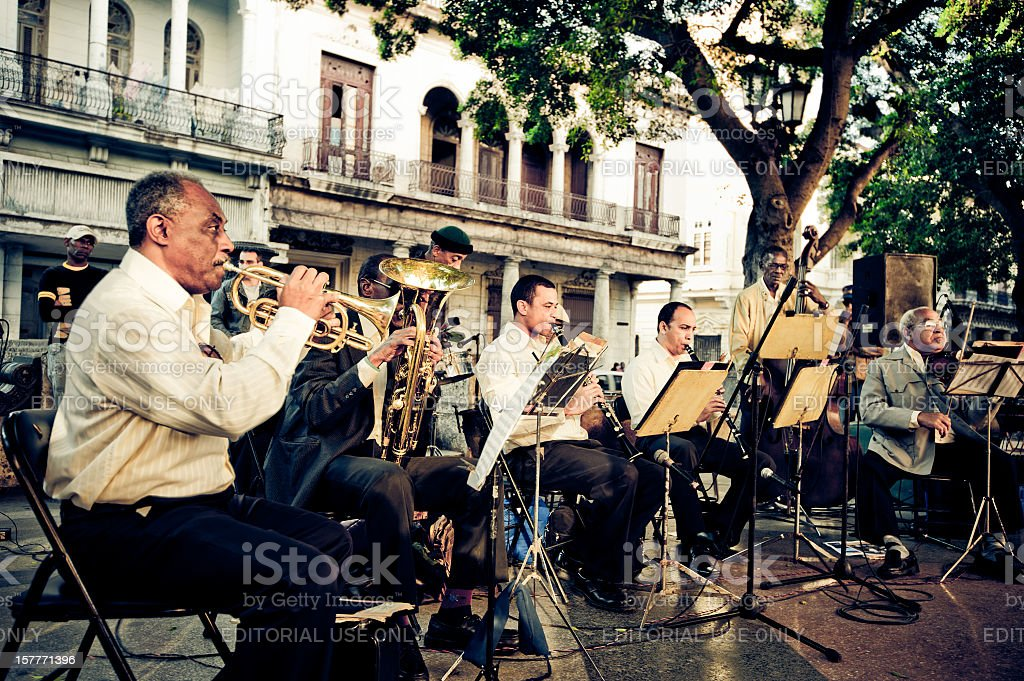 Orchestra in La Havana, Cuba stock photo