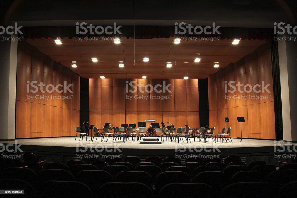 Orchestra Seats on Stage stock photo