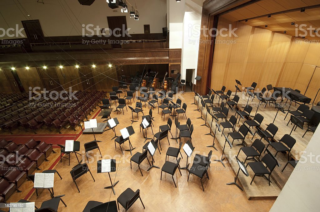 Orchestra stage royalty-free stock photo