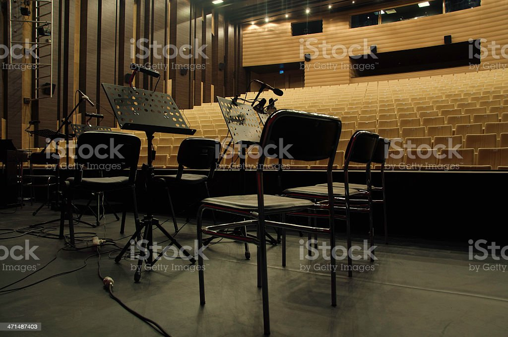 Orchestra stage stock photo