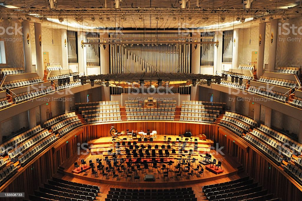 Orchestral seatings stock photo