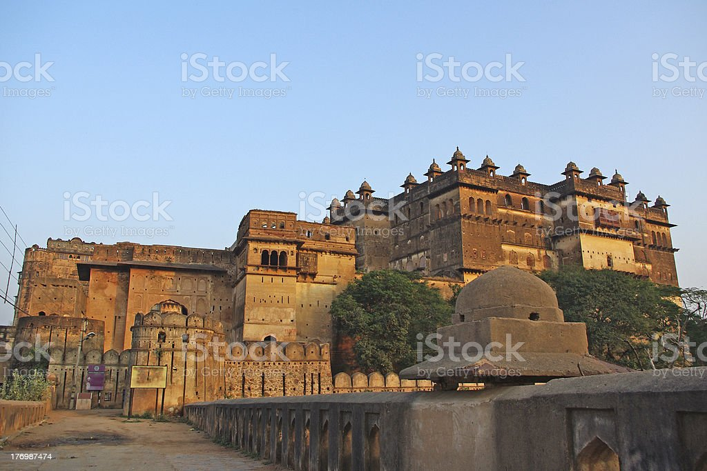 Orchha citadel stock photo