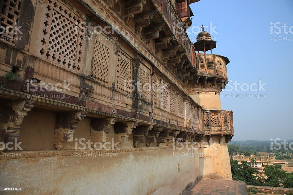 Orchha Palace stock photo