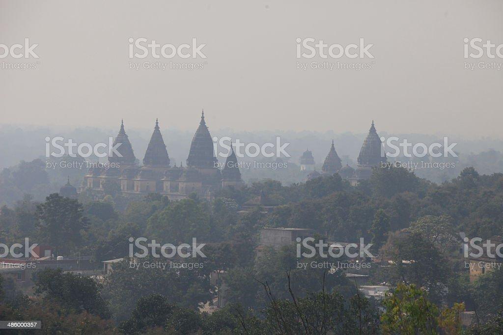 Orchha Palace stock photo
