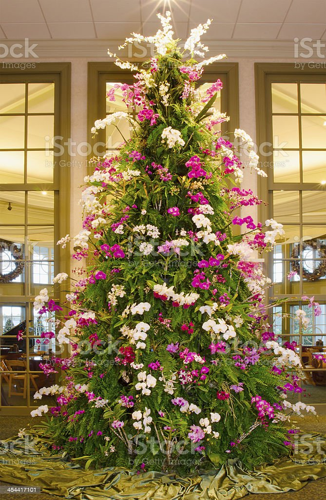 Orchid Christmas Tree royalty-free stock photo