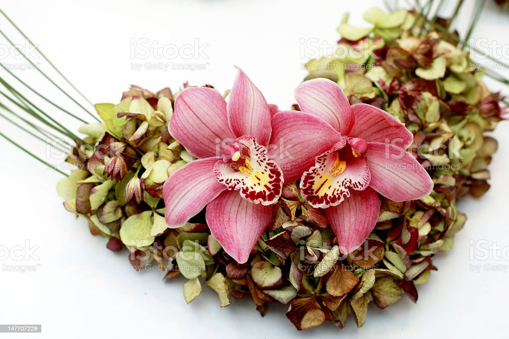 Orchid Decoration royalty-free stock photo
