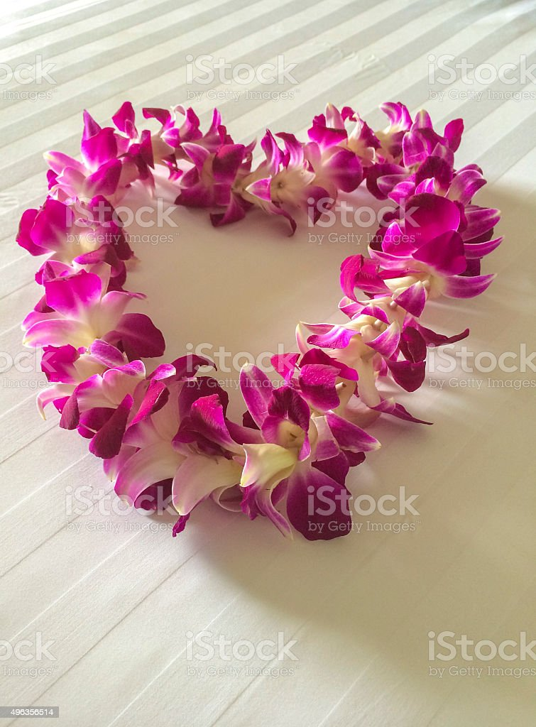 Orchid Lei stock photo