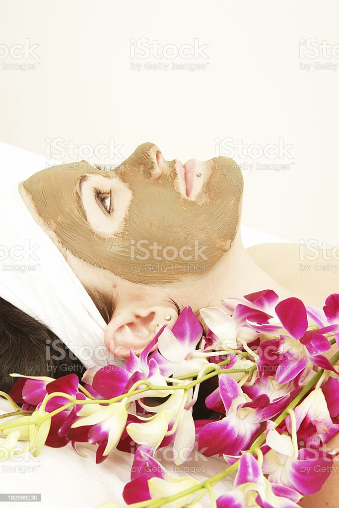 Orchid Mask stock photo