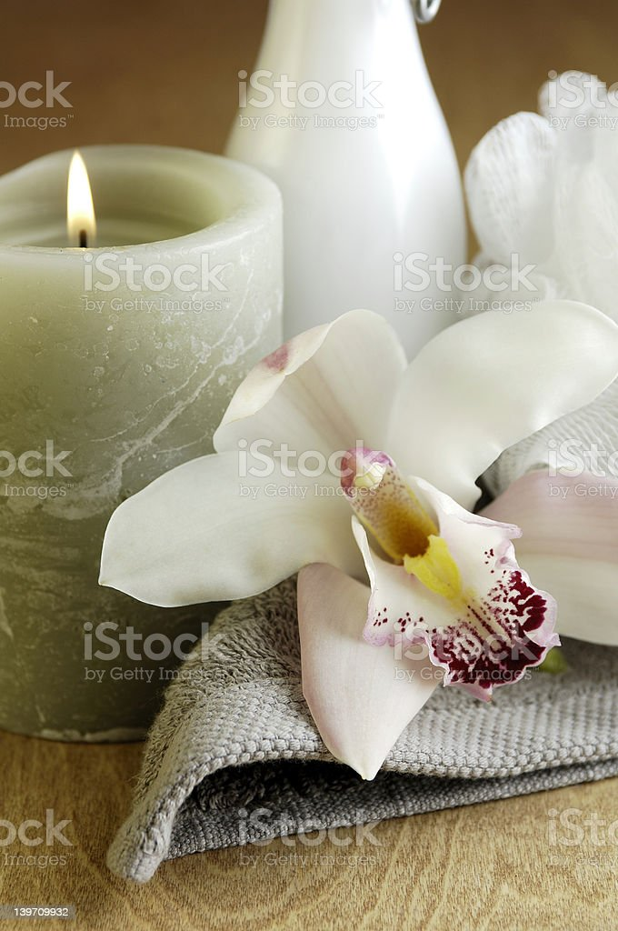 Orchid Spa royalty-free stock photo