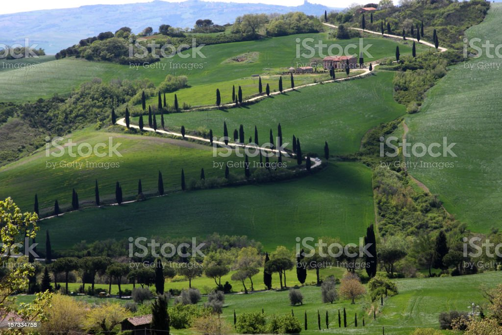 Val D'Orcia royalty-free stock photo