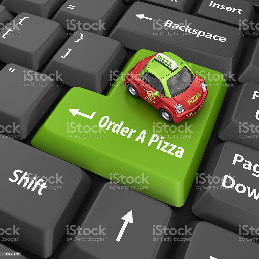 order a pizza royalty-free stock photo