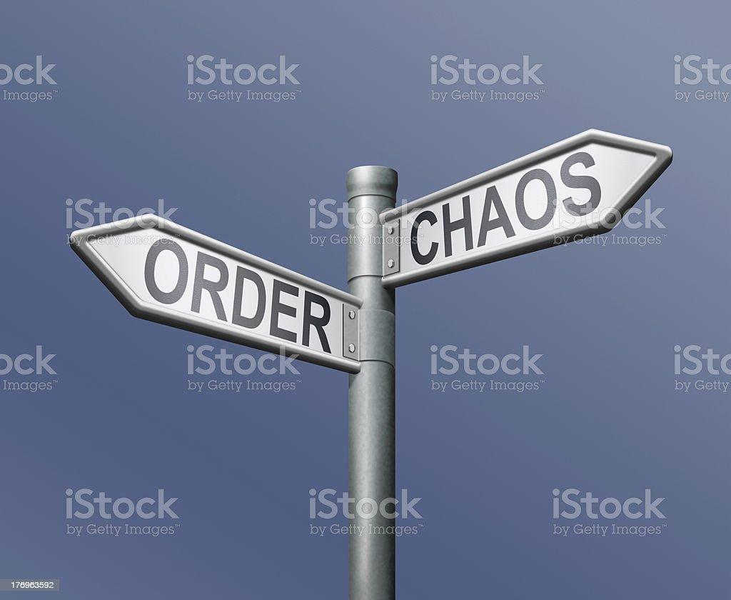 order chaos royalty-free stock photo