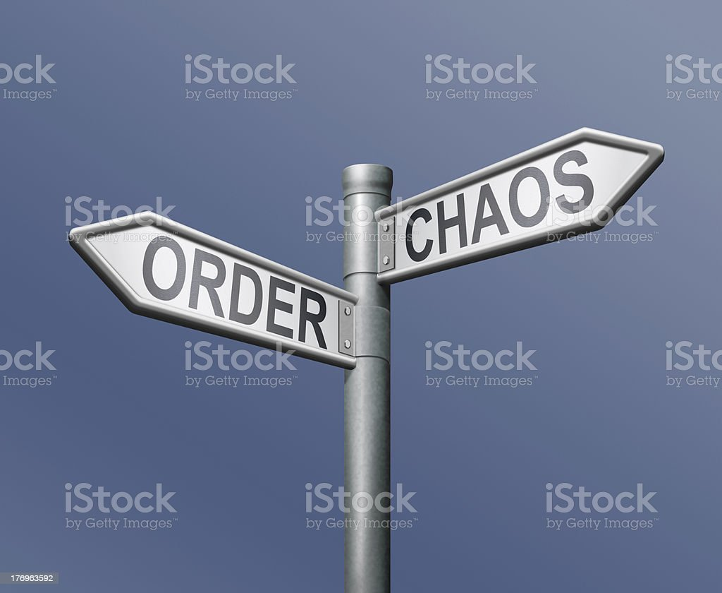 order chaos stock photo