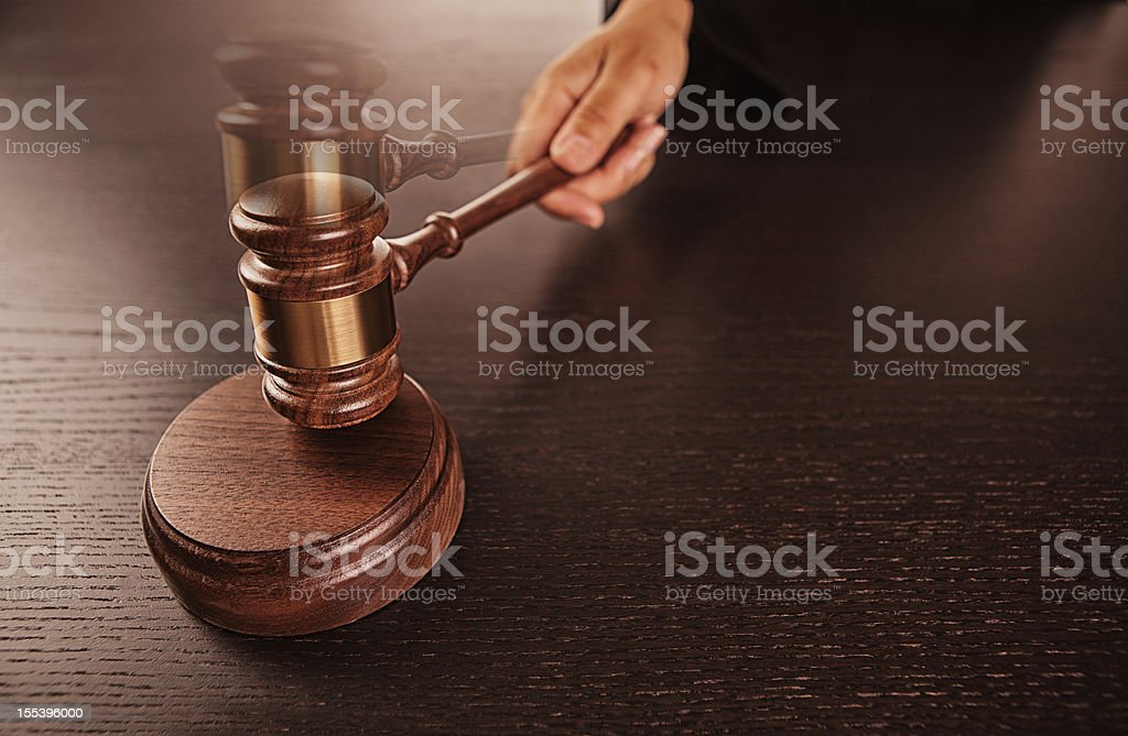 order in the court stock photo