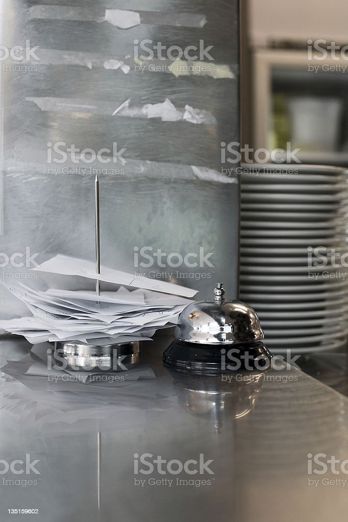 Order slip with bell stock photo