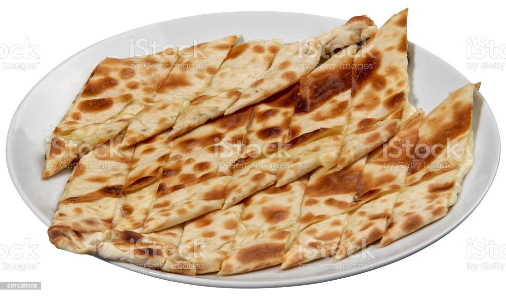 Pide, Turkish pide with cheese / Kasarli pide. stock photo
