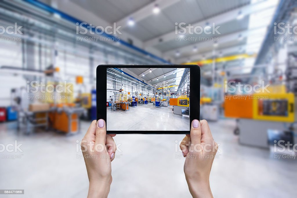 Ordering on-line from factory stock photo