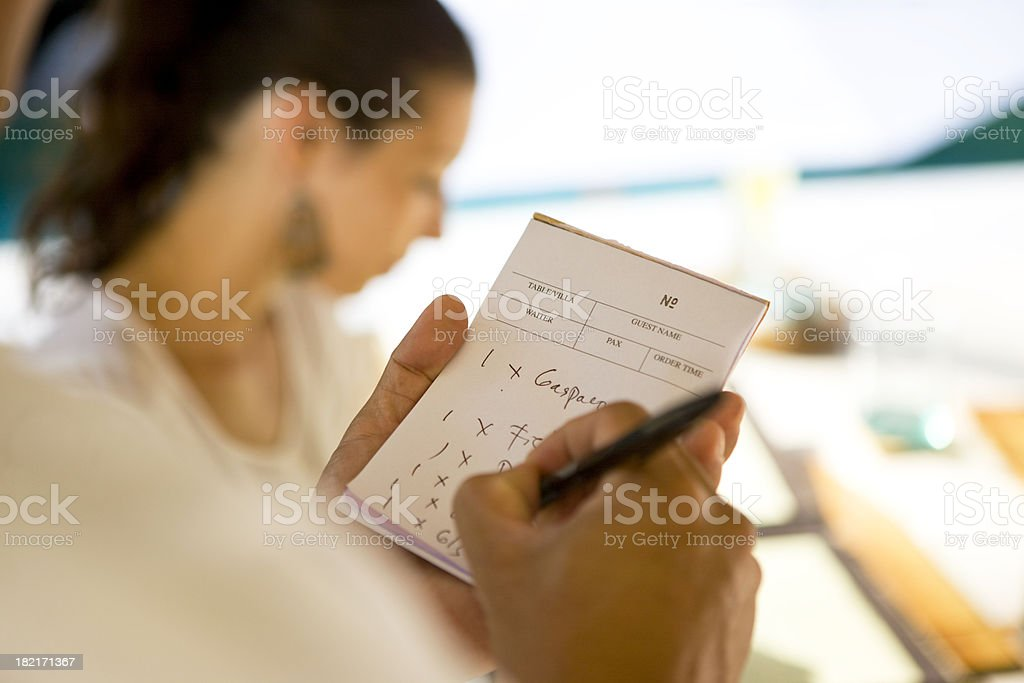 Ordering royalty-free stock photo