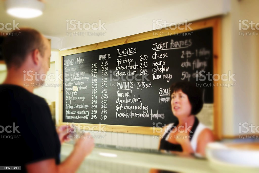 Ordering take away royalty-free stock photo