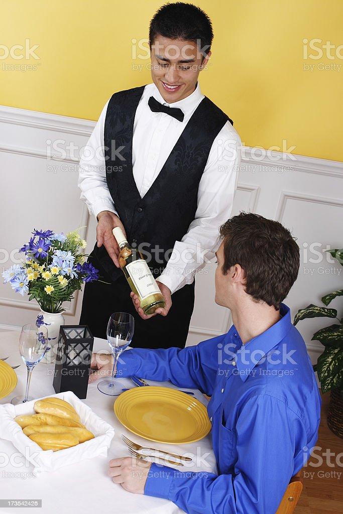 Ordering Wine royalty-free stock photo
